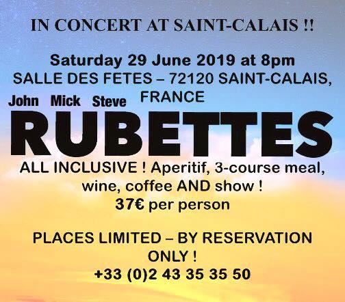 The Rubettes ft. John, Mick, and Steve Hit France