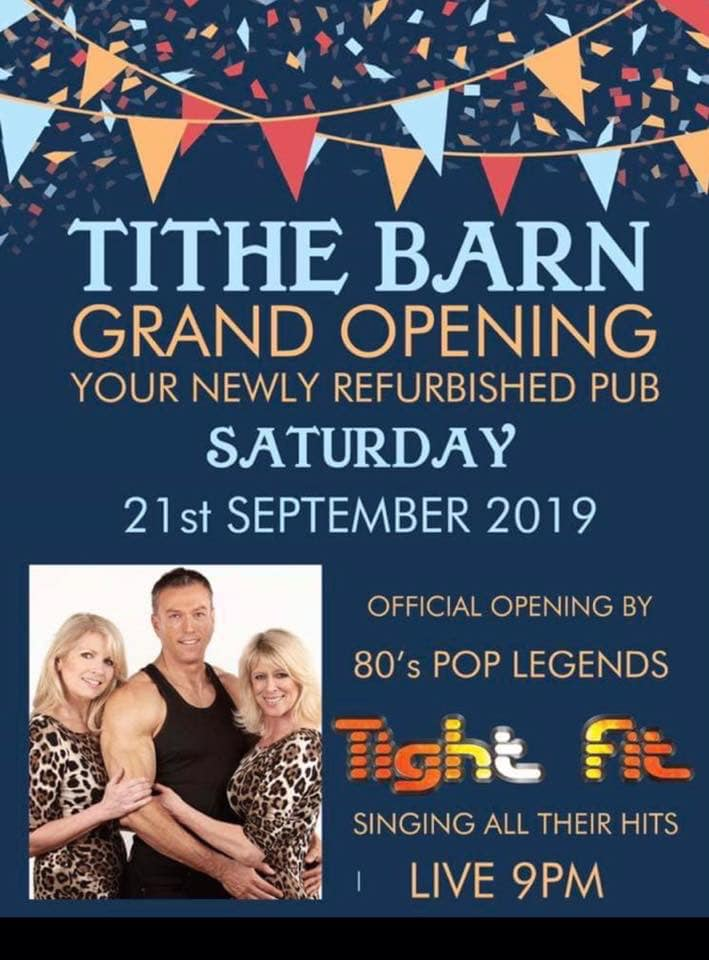 Tight Fit At The Tithe Barn in Garstang September 21