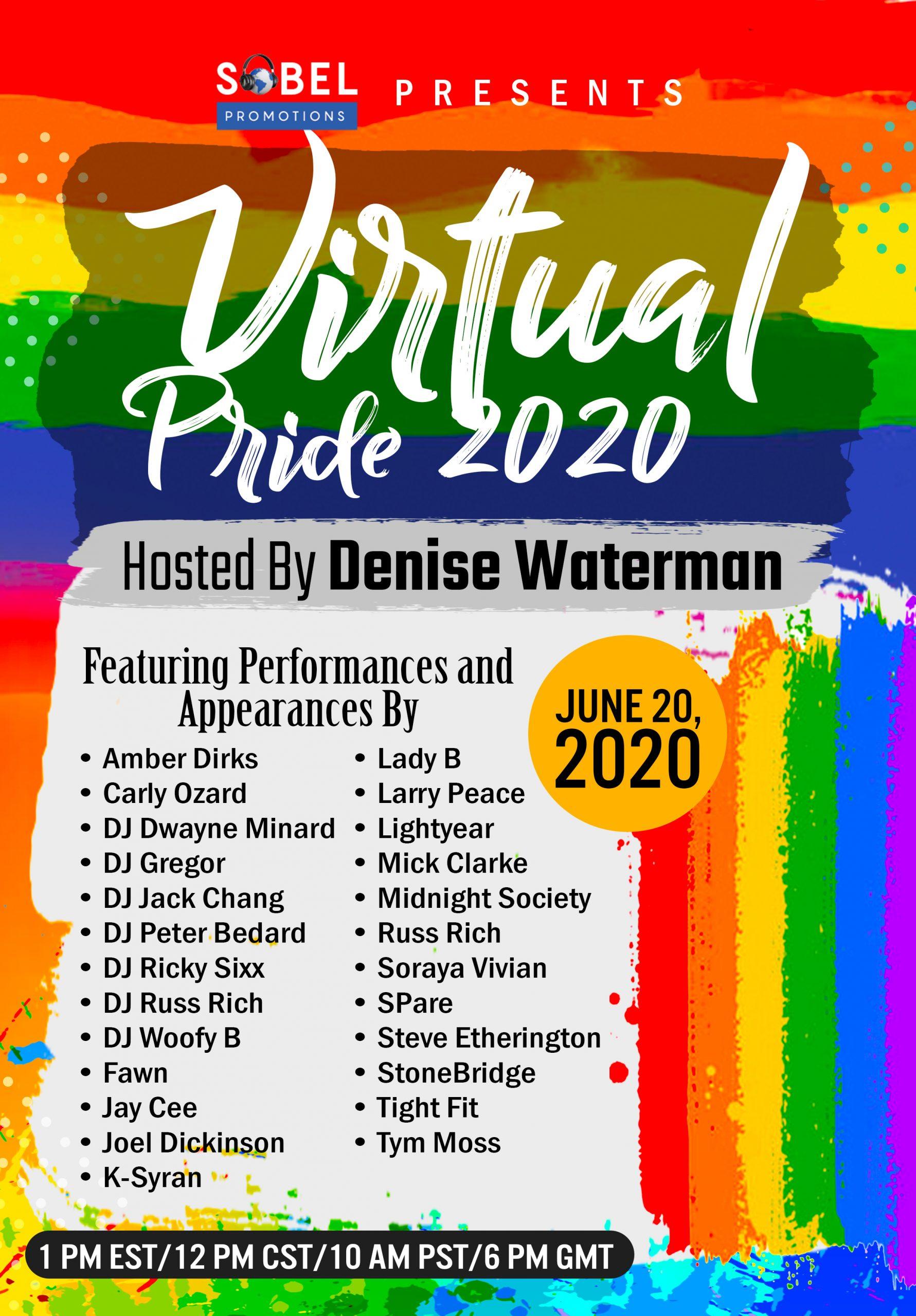Sobel Promotions Presents Virtual Pride 2020